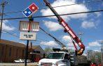 Sign install dominos pizza