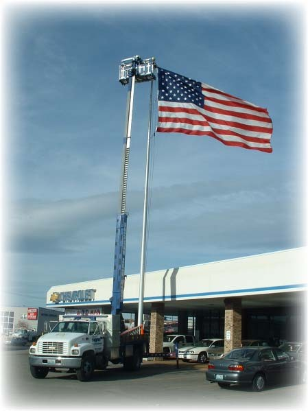 Parking Lot Light And Flag Pole Service Dale Sign Service