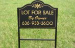 Real estate signs custom shape with angle iron frame
