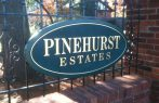 Sandblasted subdivision sign